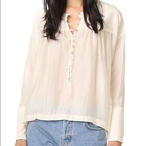 Free People • Live to Tell Silk Blouse